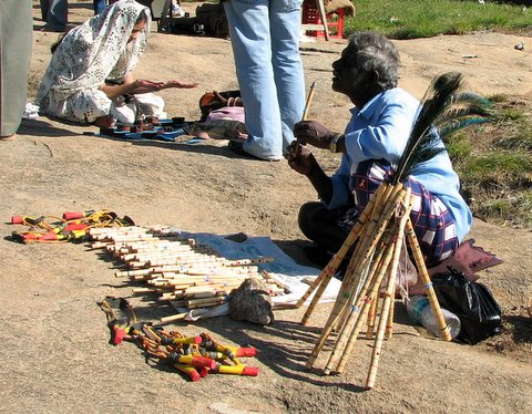the flute and catapult seller, nandi hills