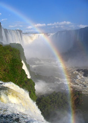 The falls (Danil) Tags: blue wild brazil green nature wet water argentina beautiful clouds america landscape photo waterfall amazing rainbow colorful groen blauw view famous falls foz pounding iguau waterval iquazu anawesomeshot ultimateshot