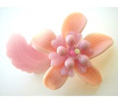 Pink and Purple Vintage Flowers Brooch