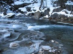 river ice (Gr75) Tags: snow ice nature canon river ticino fiume natura neve svizzera montagna ghiaccio muntain airolo