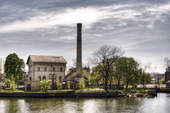 (5y12u3k) Tags: chimney sky building tree water clouds river spring industrial poland hdr gdansk gdask motlawa 2pair aplusphoto olowianka hdraddicted 5y12u3k scenicsnotjustlandscapes przepompownia sylwekeu