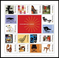 16 Eames Stamps for 2008 (eamesd) Tags: us office ray post stamps charles service postal eames