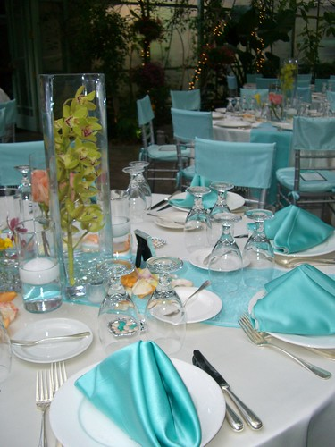 Teal Blue and Peach Table Top lisarunolfson Tags pink flowers wedding