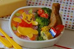 floating pooh bento box (luckysundae) Tags: pooh winnethepooh bentobox obento kyaraben
