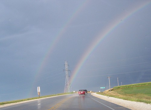 Double Rainbow while driving to Manitowoc races (8.11.2007)