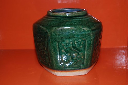 Gember in groen pot