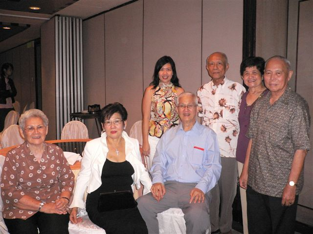 Uncle Alan (seated, center) with wife and part of the clan