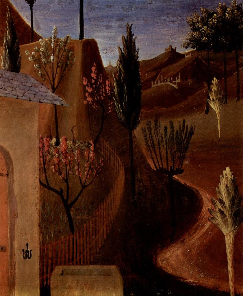 ANGELICO, Fra Christus im Garten, Landschaft, um1450