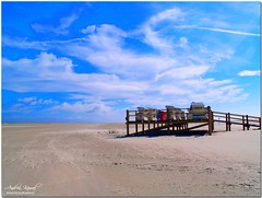memories ... (AndreaKamal.com) Tags: summer sun beach clouds germany sand bravo searchthebest bluesky soe stpeterording olympuse500 september2007 magicdonkey anawesomeshot aplusphoto httpwwwandreakamalde