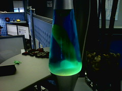 Funny photo of a naughty lava lamp