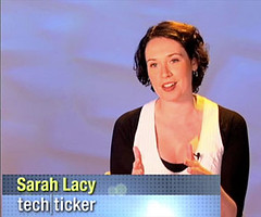 Yahoo! Finance Tech Ticker host Sarah Lacy