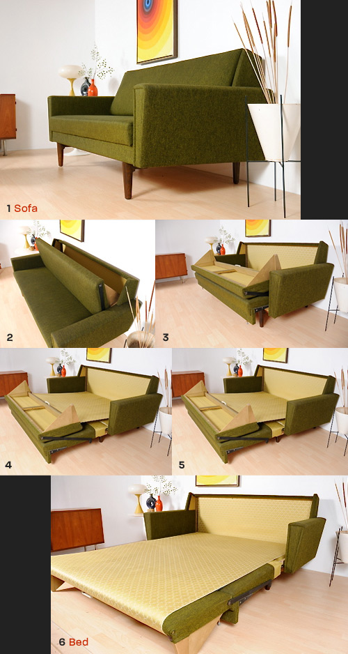 1968 Danish Sleeper Sofa The Mid Century Modernist