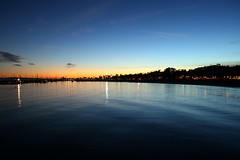 Santa Barbara Sunset (Str1ke) Tags: california santa sunset sky usa sun beach water clouds america boats united barbara states peir