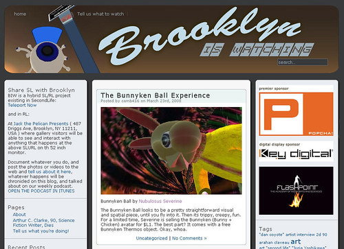 Whoa.  Bunnykenball makes the front page of the 'Brooklyn Is Watching' site.