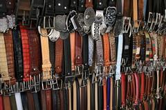 Belt Up! (Garibaldi McFlurry) Tags: red italy brown black leather florence belt italia market sale tan stall goods strap firenze buckle seller studs trader wares