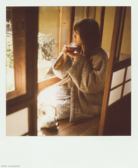 good morning (Solar ikon) Tags: morning travel japan polaroid sx70 hotel spring peace tea lifestyle xian  april  2008  600film