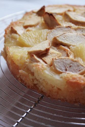 gateau pomme ananas