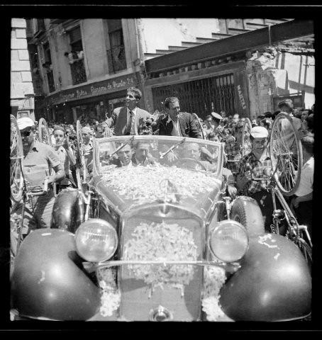 1959: Toledo recibe a Bahamontes (Fotografía Rodríguez)