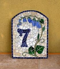 House number plaque - 7 Campanula Street (stiglice - Judit) Tags: mosaic campanula housenumber