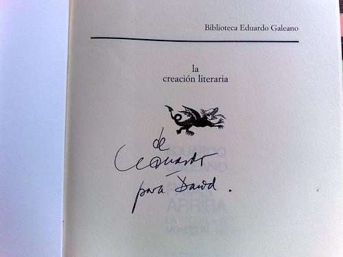 Dedicatoria de Eduardo Galeano