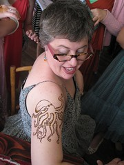 the octopus i did for a lady at the bat mitzvah (HennaLounge) Tags: foot hand bat octopus henna mehndi mitazvah
