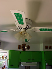ceiling fan after (stinkycretingurl) Tags: home fan decoration thrift makeover redo