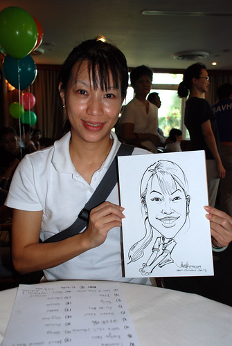 Caricature live sketching Temasek Fun Day 5