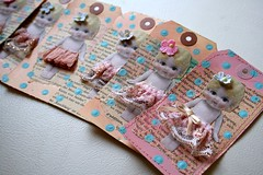 You Little Doll Tags.. (fleamarketstudio) Tags: art collage scrapbooking tag diary collageart crafty artjournal alteredart shabbychic mixedmediaart
