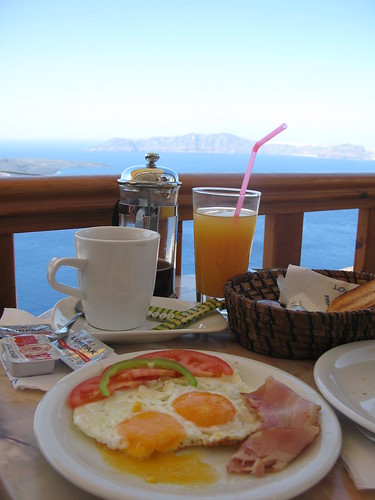 Breakfast in Santorini - Fira