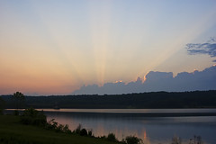 Sunset Over Lake Galena (The Wiccan) Tags: sunset rays lakegalena bigmomma peacevalley mywinners photofaceoffwinner pfogold