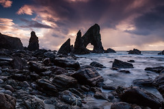 Crohy Arch (Pastel Frames Photography) Tags: crohy head donegal sea arch ireland travel nature sunset rocks stones colours wildatlanticwayocean canon5dmark3 canon2470mm clouds sky sightseeing longexposure