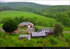 Springtime in the Valley [Tilt- Shift] (Cash Valley Photography & Imaging) Tags: county mountains rural canon landscape country maryland farmland historic hills lavale allegany tiltshift t1i cashvalleyroad