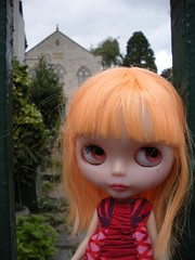 maia and the church garden.