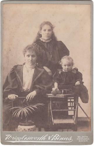 Emigrant family. New Zealand.