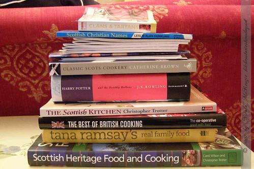Schottland-Büchereinkauf