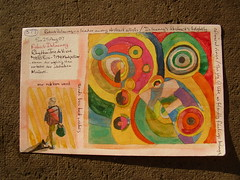 abstract by Delaunay (reindeer rob) Tags: watercolour delaunay robertdelaunay sketchcard guggenheiminnewyork sketchpostcards