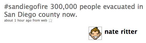 Twitter / nate ritter: #sandiegofire 300,000 peopl...