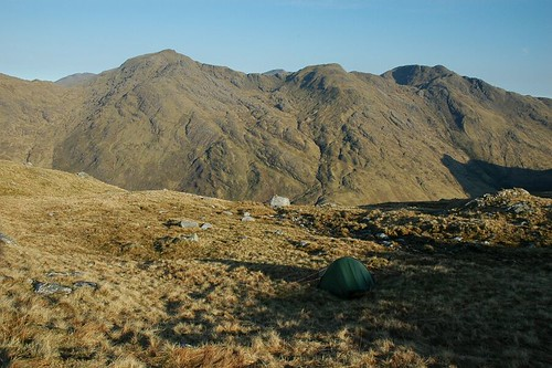 Meall Buidhe and Luinne Bheinn from camp on Sgurr na Ciche