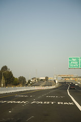 Fastrak at Full Speed (mrjoro) Tags: california bridge sign lenstagged unitedstatesofamerica inthecar canon5d interstate fromthecar starred canonef24105f4l tollplaza fastrak interstate680 beniciamartinezbridge opentolling onehalfmile