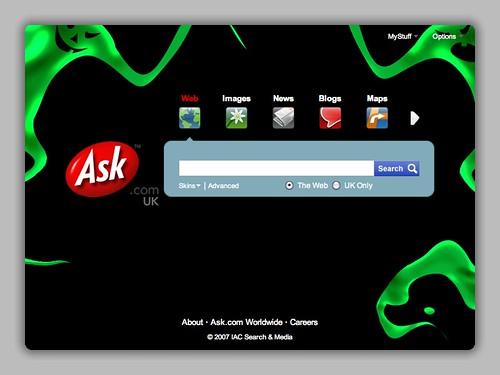 Ask.com Halloween 2007 UK