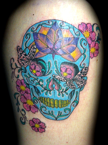 Tatuaje sugarskull Pupa tattoo Granada by Marzia Tattoo