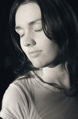 (Matthew_James) Tags: portrait bw woman girl sepia female fi bluesepia