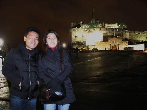 Ben and Shirley, Edinburgh Castle, Scotland