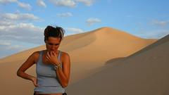 Climbing dunes (cooltrudy) Tags: girl sand desert dune mongolia gobi beautifull