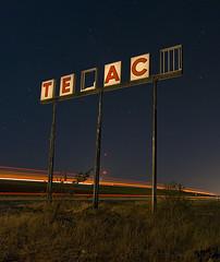 _ _ X _ _ O (Noel Kerns) Tags: abandoned oklahoma station night route66 gas hydro texaco i40 ih40