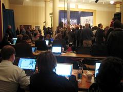 Obama Press Row
