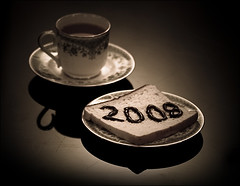 { Good morning 2008 *~ ( GUM ) Tags: new black cup photoshop canon gum bread tea chocolate year 2008 doha qatar 400d
