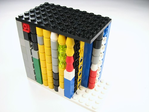 LEGO 1x1 storage, capped