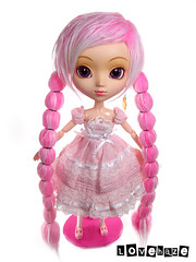 Pink overload:  Pullip Papin in Barrel braids (lovehaze) Tags: pink fur toy toys doll wig pullip braids pigtails pullips tails furwig papin