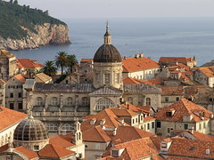 Dubrovnik cathedral from the city walls (N-Sarn) Tags: city sea architecture mediterranean cathedral croatia unesco walls dubrovnik adriatic